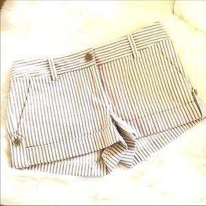 Express Design Studio Striped Cuffed Summer Shorts